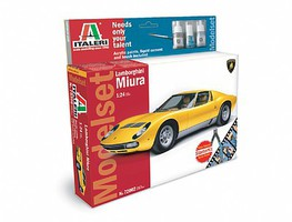 Italeri Lamborghini Miura w/Sprue Cutter and Video Plastic Model Car Kit 1/24 Scale #72002