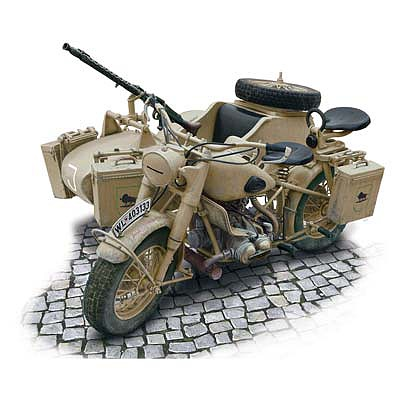 Italeri BMW R75 German Military Motorcyle Plastic Model Military Vehicle Kit 1/9 Scale #7403s