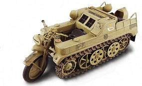 Italeri NSU HK 101 Kettenkrad Military Motorcycle Plastic Model Motorcycle Kit 1/9 Scale #7404s
