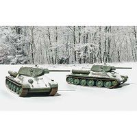 Italeri T34/76 Mod. 42 Tanks (2 model kits) Plastic Model Military Vehicle 1/72 Scale #7523s