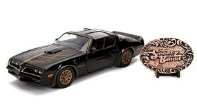 Jada-Toys 1/24 Smokey & The Bandit 1977 Pontiac Firebird w/Replica Belt Buckle Diecast Model Car #30998