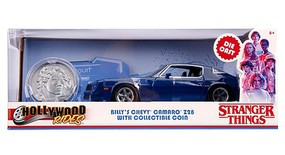Jada-Toys 1/24 Stranger Things Billys 1979 Chevy Camaro Z28 w/Coin