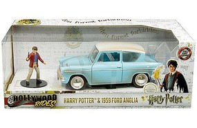Jada-Toys 1/24 1959 Ford Anglia w/Harry Potter Figure