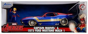 Jada-Toys 1/24 Avengers 1973 Ford Mach 1 w/Captain Marvel Figure