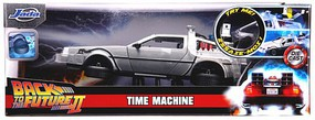 Jada-Toys 1/24 Back to the Future Part II DeLorean Car Time Machine w/Lights