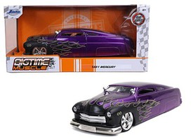 Jada-Toys 1/24 1951 Mercury (Purple w/Black Flames) (no figure included)