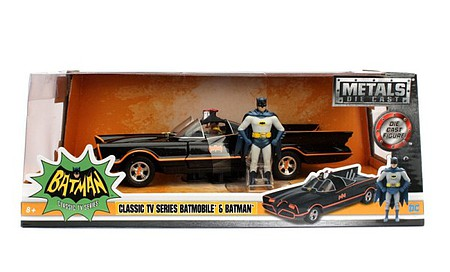 Jada-Toys 1/24 1966 Classic TV Series Batmobile w/Batman Figure