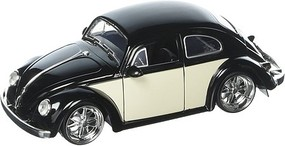 Jada-Toys 1/24 1959 VW Beetle (Glossy Black & Cream) (no figure included)
