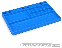 J-Concepts Parts Tray, Rubber Material, Blue