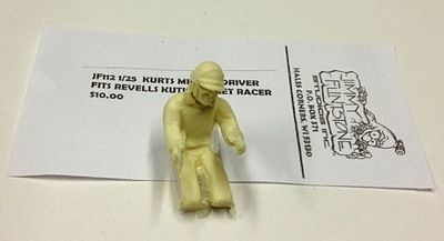 Jimmy Flintstone Kurtis Midget Driver for a Revell Model -- Resin Model Vehicle Accessory Kit -- 1/25 Scale -- #jf112
