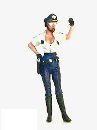 Jimmy Flintstone Officer Patty Patrol Wearing Low Cut Shirt -- Resin Model Fantasy Figure Kit -- 1/25 Scale -- #jf55