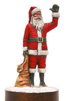 JimmyFlintstone Santa Clause with Sack Resin Model Fantasy Figure Kit 1/25 Scale #jf88