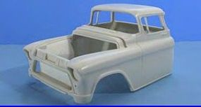 JimmyFlintstone 1955-57 Chevy Chopped Cab Body for AMT Resin Model Vehicle Accessory 1/25 Scale #nb261