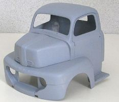 JimmyFlintstone 1950 Ford Cab over Truck Body, Hood for Revell Resin Model Vehicle Accessory 1/25 #nb278