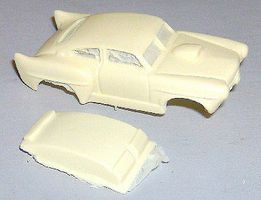JimmyFlintstone HO Henry J Street Racer Body for 4-Gear Chassis