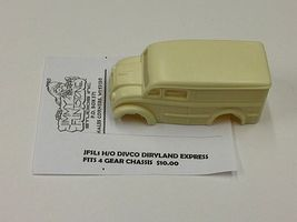 JimmyFlintstone Divco Dairyland Express Body for 4-Gear Chassis Resin Slot Car Body HO Scale #sl1