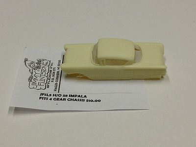 Jimmy Flintstone 1958 Chevy Impala Body for 4-Gear Chassis -- Resin Slot Car Body -- HO Scale -- #sl5