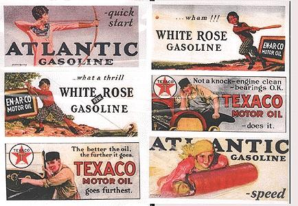 Vintage Gas Station/Oil Signs (6) 1920s