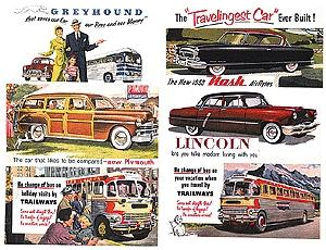 JL 1940s &1950s Automobile Signs Set 1 Model Railroad Billboards HO Scale #172