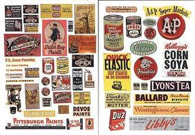 JL Paint and Consumer Signs 1940s &1950s Model Trackside Accessories HO Scale #178