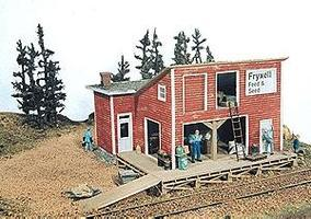 JL Fryxell Feed & Seed Kit Model Railroad Building HO Scale #181
