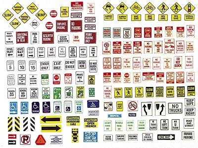 JL Innovative Design Uncommon Street Parking Signs -- Model Railroad Billboards -- HO Scale -- #202