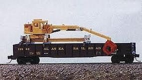 JL Maintenance of Way Gondola Crane Metal Kit Model Railroad Vehicle N Scale #2081