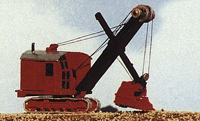 JL Bucyrus Excavator Shovel Metal Kit Model Railroad Vehicle N Scale #2121