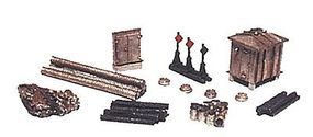 JL Railroad Yard Detail Set Metal Kit Model Railroad Trackside Accessory N Scale #2141