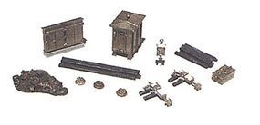 JL Railroad Mainline Detail Set Metal Kit Model Railroad Trackside Accessory N Scale #2151