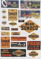 JL Vintage Gas Station Signs Sunoco Model Railroad Billboard HO Scale #237