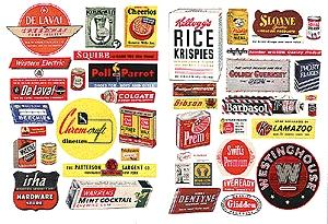 JL Innovative Design 1940's-1950's Consumer Product Posters/Signs -- Model Railroad Billboard -- HO Scale -- #282