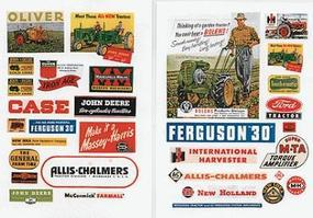 JL Farm & Tractor Signs 1940s to 1950s Model Railroad Billboard HO Scale #296