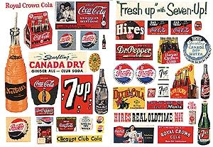 JL Innovative Design Vintage Soft Drink Poster/Signs Series II -- Model Railroad Billboard -- HO Scale -- #297