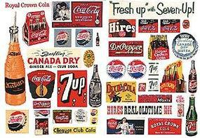 JL Vintage Soft Drink Poster/Signs Series II Model Railroad Billboard HO Scale #297