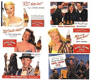 JL 1940s to 1950s Stars of the Past RC Cola Signs Model Railroad Billboard HO Scale #298
