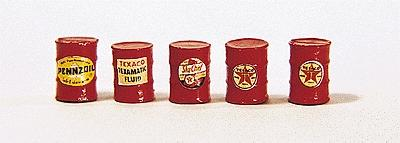 JL Gas Station Barrels Red Model Railroad Building Accessory HO Scale #313