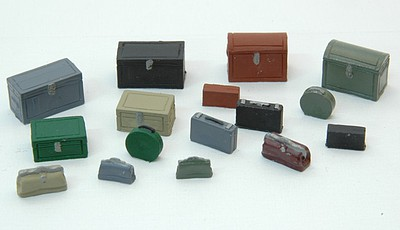 JL Innovative Design HO Vintage Luggage & Truck Set (16)