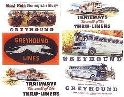 JL Vintage Bus Billboards 1950s Model Railroad Sign HO Scale #374