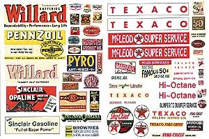 55 Signs JL Innovative Design HO #284 Gas Station//Oil Signs Series II 1930s-60s