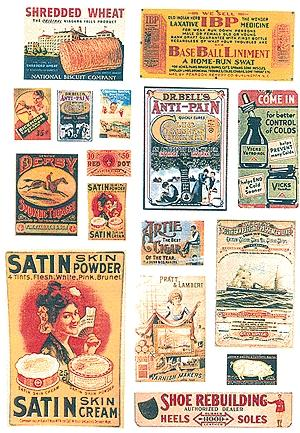 42 Signs JL Innovative Design HO #282 Consumer Product Signs 1940s-50s