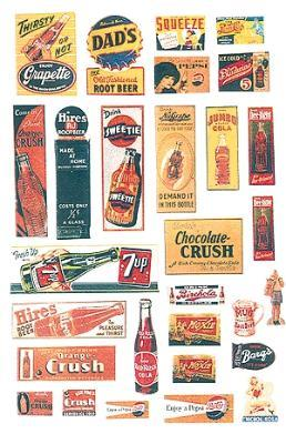 JL Innovative Design Uncommon & Unusual Softdrink Signs 1940's to 1950's -- Model Railroad Billboard -- HO Scale -- #406