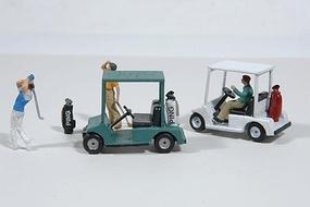JL Golf Carts and Golf Bags Model Railroad Vehicle HO Scale #459