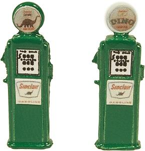 JL Deluxe Custom Gas Pumps Sinclair Model Railroad Building Accessory HO Scale #516