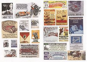 JL Vintage Racing & Speedway Signs 1920s to 1940s Model Railroad Billboard HO Scale #548