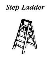 JL Custom Ladders 8ft Step Ladder Brown Model Railroad Building Accessory HO Scale #554