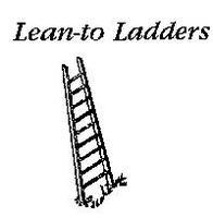 JL Custom Ladders 10ft Lean To Ladders Model Railroad Building Accessory HO Scale #555