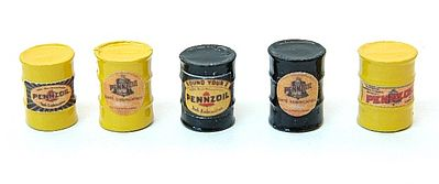 JL Custom Oil Barrel Pennzoil Model Railroad Building Accessory HO Scale #578