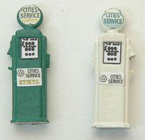 JL Deluxe Custom Cities Service Gas Pumps (2) HO Scale Model Railroad Accessory #582
