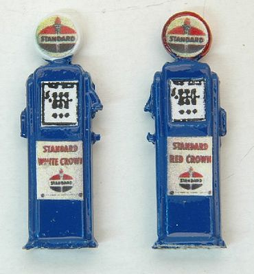 JL Deluxe Custom Gas Pumps Standard Model Railroad Building Accessory HO Scale #584